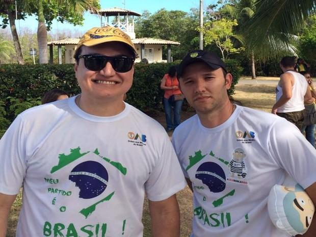 Organizadores de manifsetação de Aracaju dizem que tempo para divulgar evento foi curto  (Foto: Tassio Andrade/G1)