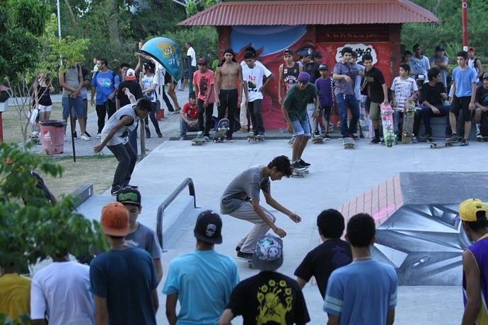 Pista de skate manaus revitalizada (Foto: Tacio Melo/Semcom)