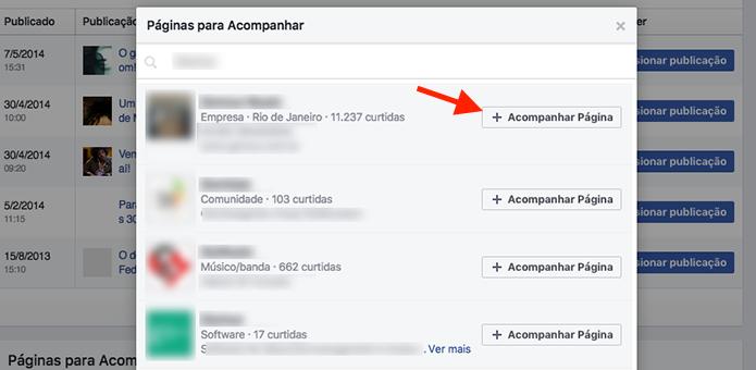 Opção para adicionar uma página concorrente para criar um comparativo no Facebook (Foto: Reprodução/Marvin Costa)
