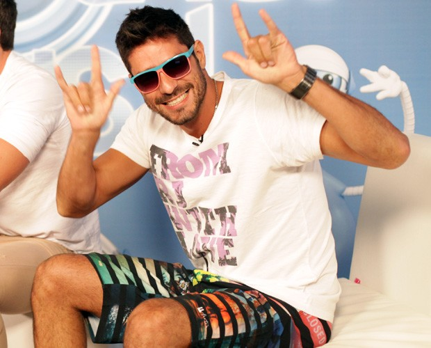 Diego na Maratona BBB (Foto: Dafne Bastos/TV Globo)
