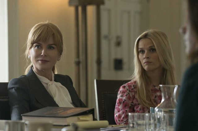 Nicole Kidman e Reese Witherspoon em 'Big little lies' (Foto: HBO)