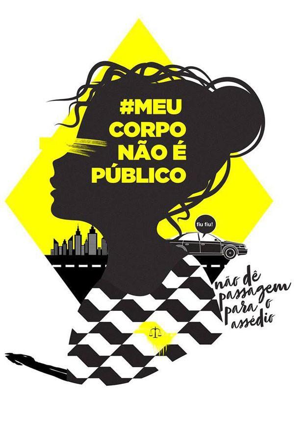 Publicitárias criam cartazes para protestar contra o assédio sexual (Foto: Reprodução)