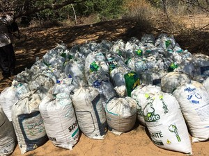 Droga foi acondicionada em 85 sacos grandes e depois incinerada em PE (Foto: Major André Luiz Cabral Bezerra/ Arquivo pessoal)