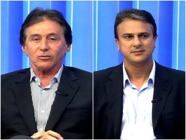 Eunício Oliveira e Camilo Santana (Foto: TV Verdes Mares/Reprodução)