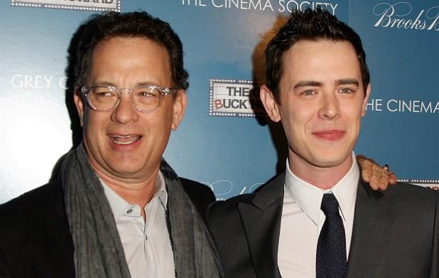 Tom Hanks tem 58 anos de idade, dois Oscars e quatro Globos de Ouro de Melhor Ator, graças a filmes como 'Filadélfia' (1993), 'Forrest Gump, o Contador de Histórias' (1994), 'O Resgate do Soldado Ryan' (1998) e 'Náufrago' (2000). Agora, o filho primogênito, Colin Hanks, que completa 37 anos em novembro deste ano, está seguindo os caminhos do pai. É finalista do Primetime Emmy de Melhor Ator Coadjuvante pelo trabalho na minissérie 'Fargo'. (Foto: Getty Images)