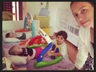Luana Piovani posta foto com os três filhos: 'Minha maior riqueza'