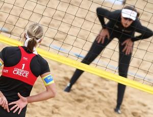 vôlei de praia Doris Schwaiger e Maria Clara em Corrientes (Foto: FIVB)