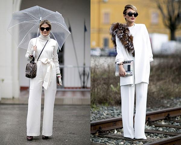 O look todo branco é queridinho entre as fashionistas (Foto: Imaxtree)