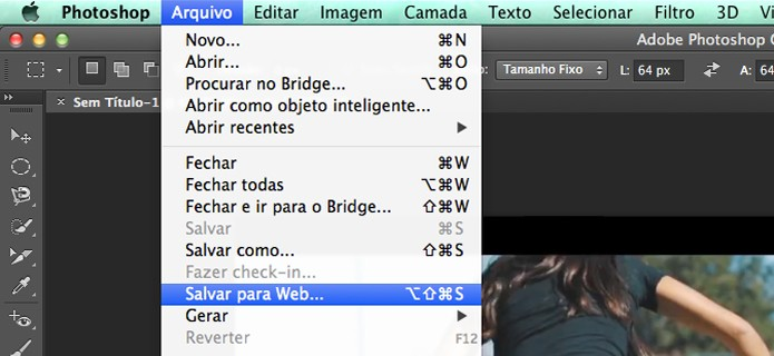 Caminho para Salvar para Web (Foto: Reprodução/André Sugai )
