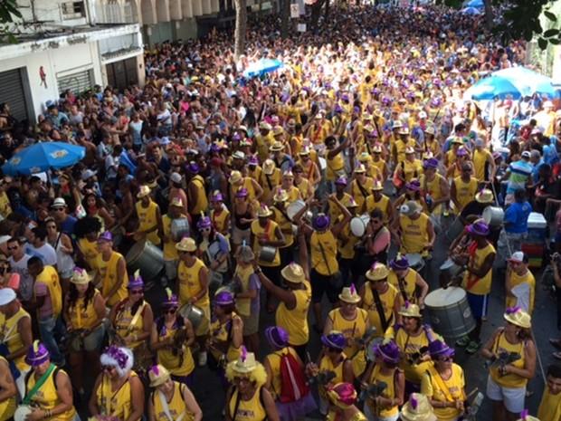 Simpatia reúne multidão na concentração (Foto: Cristina Boeckel/G1)
