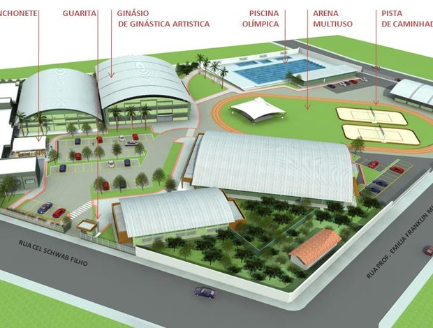 Projeto do Centro de Treinamento Olímpico Jayme Navarro, em Bento Ferreira Vitória (Foto: Divulgação/Sesport)