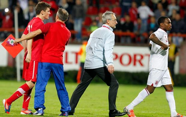 Milos Ninkovic Sérvia e Danny Rose Inglaterra Sub-21 (Foto: AP)