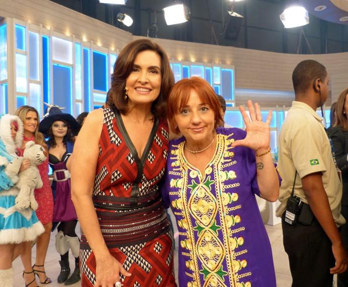 Fátima e convidada do programa (Foto: Carolina Berger/Gshow)