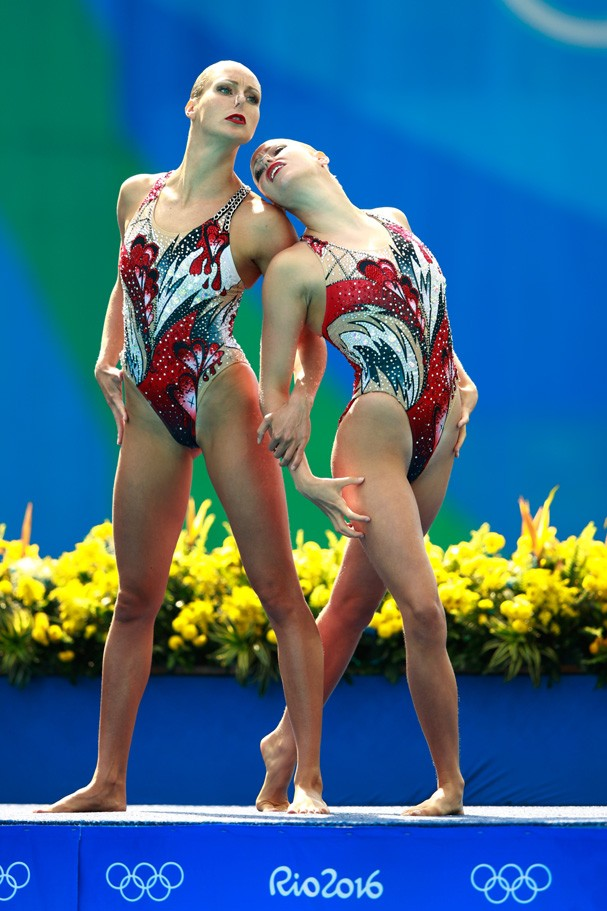 Jacqueline Simoneau e Karine Thomas do Canadá (Foto: Getty Images/Adam Pretty)