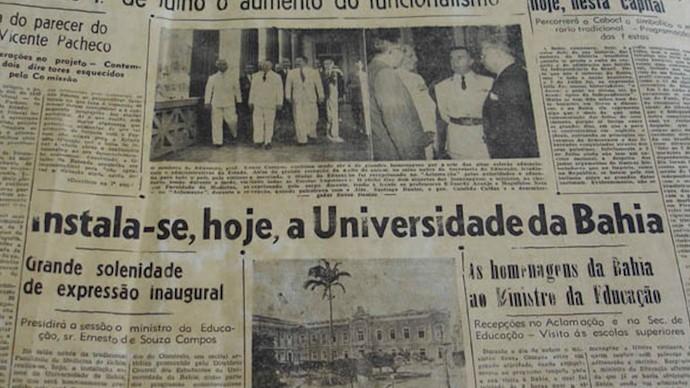 Criação das escolas de artes da Ufba é tema da série sobre 70 anos da instituição (Foto: TV Bahia)