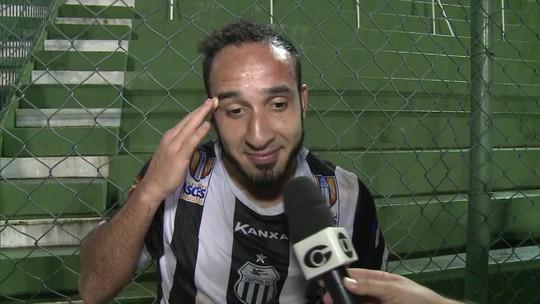 Destaque na vitória do Central, Leandro Costa faz três gols e pede música no... GE!