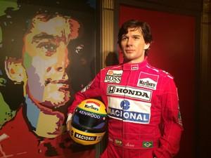 Estátua com foi aprovado pela família do piloto  (Foto: Bruno Rodrigues/G1)