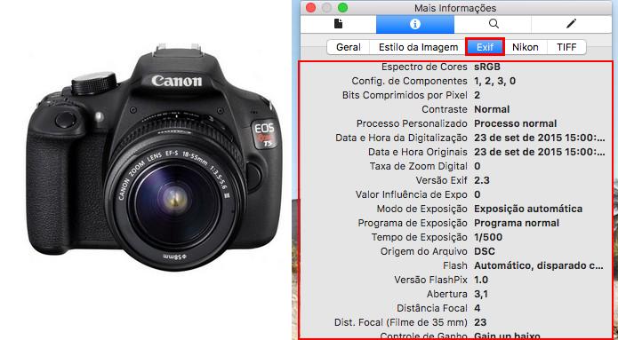 Veja como visualizar as informações EXIF de fotos no Windows e Mac (Foto: Reprodução/Edivaldo Brito)