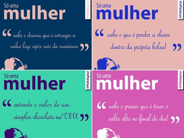 Campanha prefeitura de Porto Alegre dia da Mulher (Foto: Reprodução)