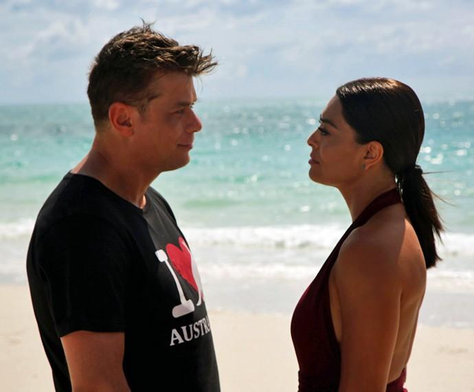 Fábio Assunção e Juliana Paes gravam cenas de Arthur e Carolina em Whitehaven (Foto: Bernardo Duarte/Gshow)