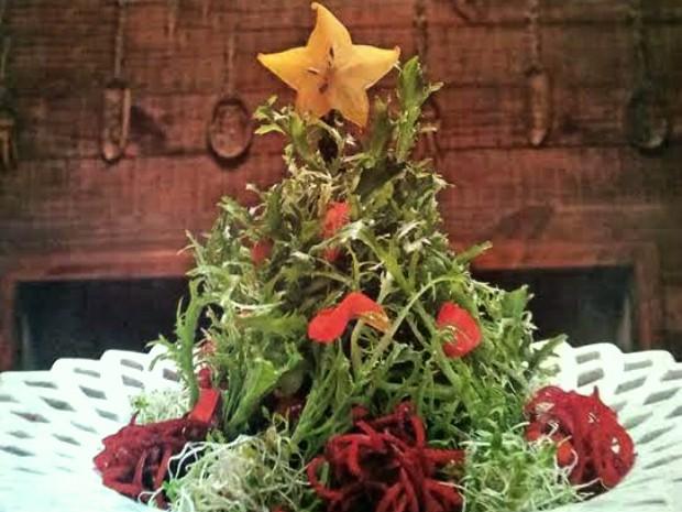 """Barão criou uma salada """"Árvore de Natal"""" (Foto: Divulgação / Barão Gastronomia)"""