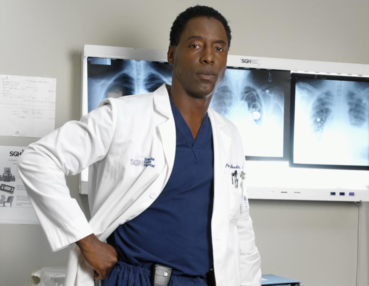 Isaiah Washington na pele do Dr. Preston Burke na série 'Grey's Anatomy' (Foto: Divulgação)