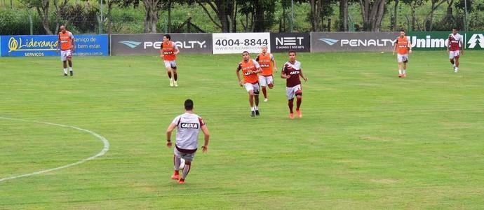 Figueirense treino (Foto: Renan Koerich)