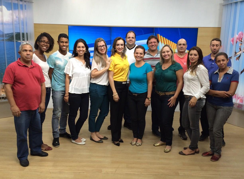 Equipe da TV Gazeta Sul (Foto: Divulgação/ TV Gazeta)