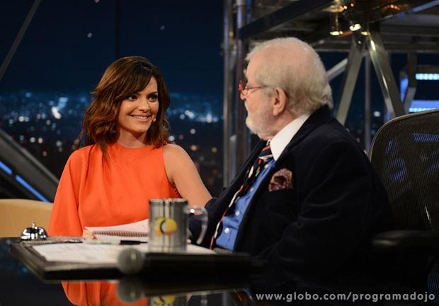 Mayana Neiva participa do Programa do Jô desta quarta-feira (Foto: TV Globo/Programa do Jô)