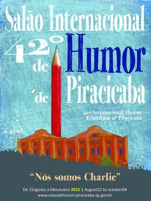 Cartaz do Salão Internacional de Humor de Piracicaba (Foto: Eleni Destro/ Semac)