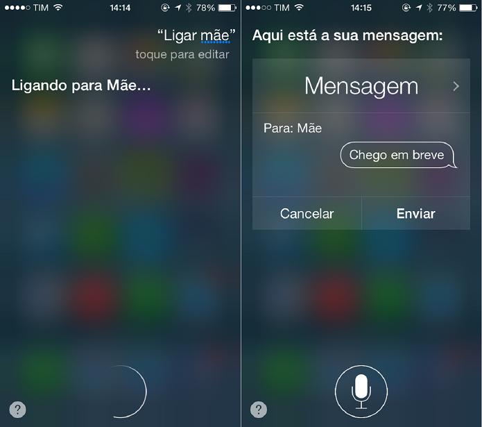 Você pode ligar ou mandar mensagens para seus contatos (Foto: Felipe Alencar/TechTudo)