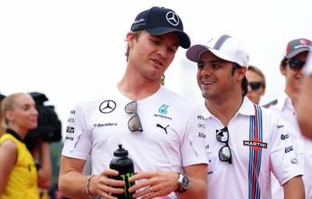 """Massa, sobre vaga de Nico: """"Quem não gostaria de correr pela Mercedes?"""""""