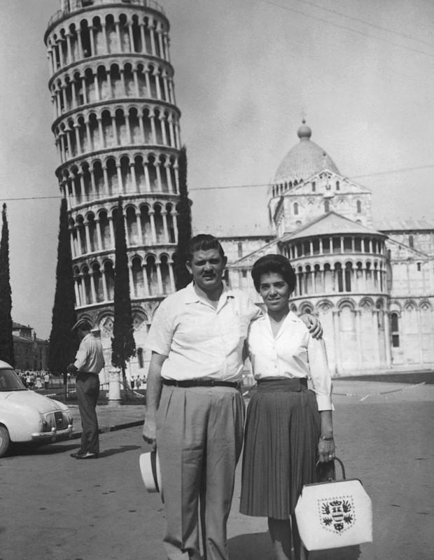 Casal Rubens Paiva na Itália (Foto: Acervo da família)