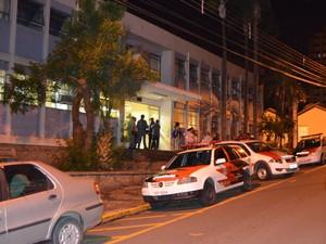 Plantão da Polícia Civil em Piracicaba (Foto: Araripe Castilho/G1)