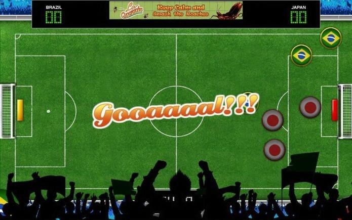 Momento do gol em Button Soccer, da Smyowl (Foto: Divulgação)