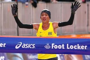 Marilson Gomes na Maratona de Nova York em 2008 (Foto: Getty Images)