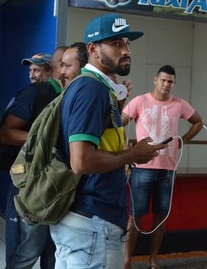 Alesson Henrique fez o gol de empate do Rondoniense  (Foto: Lívia Costa)