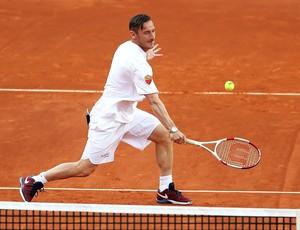 BLOG: Totti, De Rossi e outras estrelas do Roma exibem talento no tênis em evento