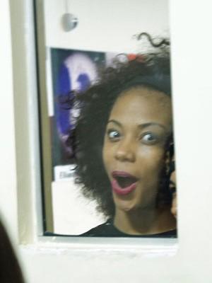 Kimberly, dançarina de Beyoncé, se espanta com o tamanho da fila para workshop (Foto: Glauco Araújo/G1)