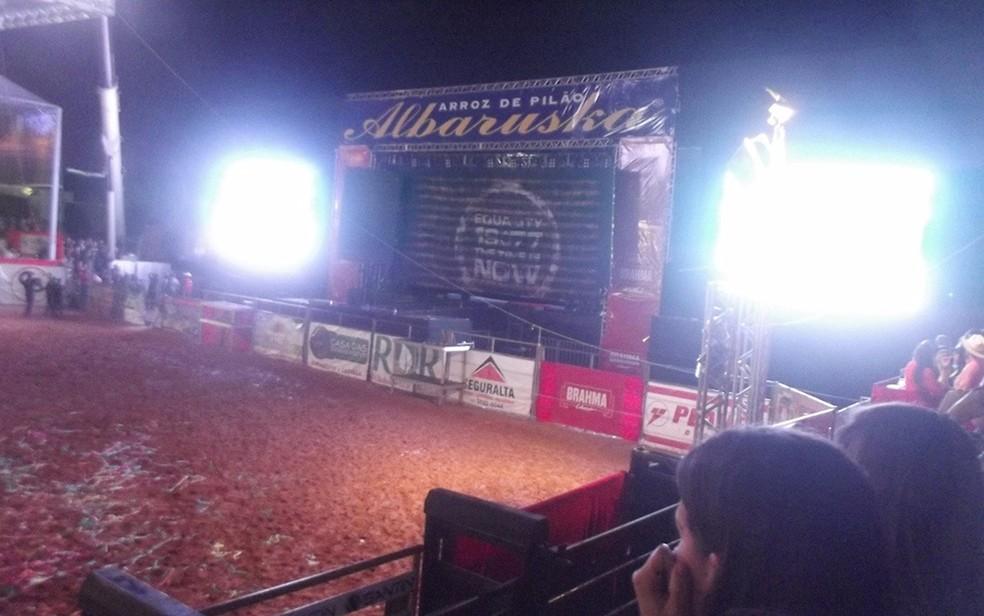 Palco onde aconteceu o show de Luan Santana (Foto: Tél Patané/Catanduva Show)