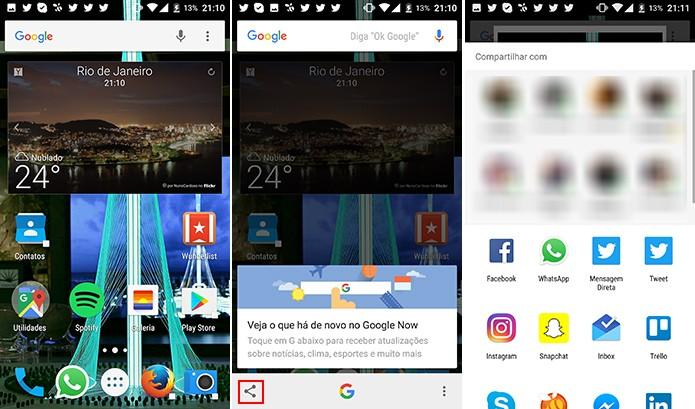 Google Now tem ferramenta de captura de tela que facilita compartilhamento (Foto: Reprodução/Elson de Souza)