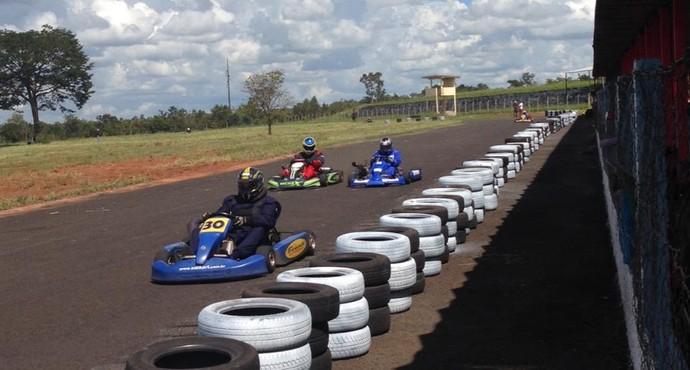 Kartódromo do Clube Caça e Pesca em Uberlândia (Foto: Divulgação/Liga Independente do Kart de Uberlândia)