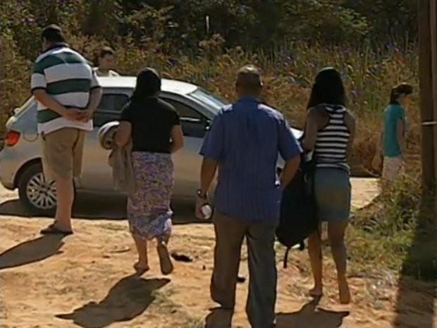 Familiares de Amisadai informaram que viram o jovem se afogar, mas ninguém conseguiu socorrê-lo (Foto: Reprodução / TV Tem)