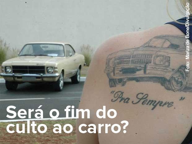 Mariza de Bone, a Joice do Opala, eternizou o carro dela em tatuagem  (Foto: Mariza de Bone/Divulgação)