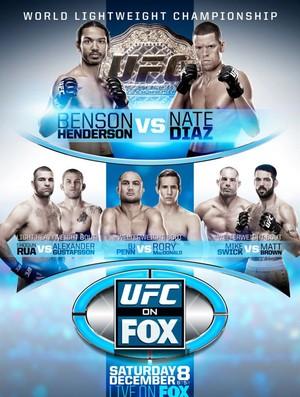 UFC MMA Pôster Henderson x Diaz (Foto: Divulgação / UFC)