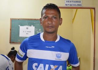 Marquinhos Fumê, técnico do Viana-MA (Foto: Nailson Wapichana/GloboEsporte.com)