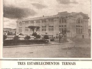 Jornal da época em que as Thermas Antônio Carlos foram inauguradas (Foto: Arquivo)
