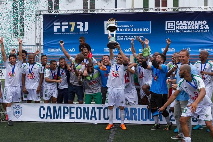 Cabofriense Campeão Campeonato Carioca Futebol 7 (Foto: Daniel Oliveira / Divulgação)