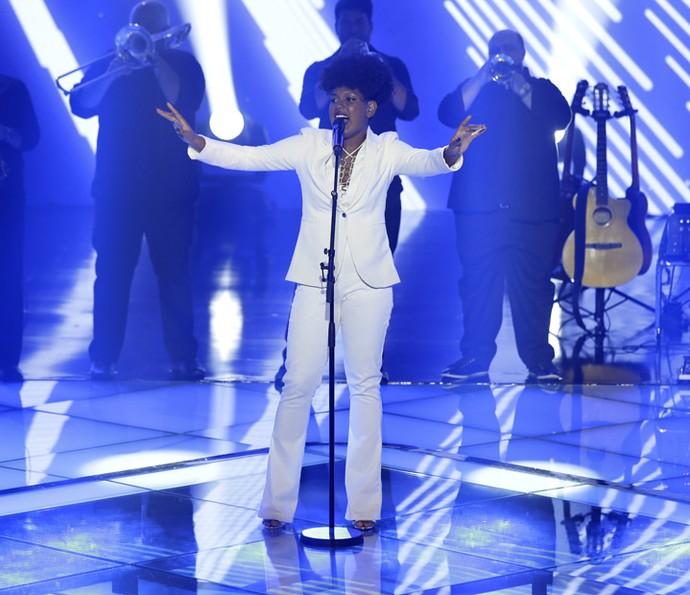 Mylena Jardim encerrou a noite de apresentações dos times (Foto: Artur Meninea/Gshow)