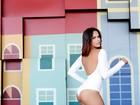 Raissa Sampaio, vencedora do concurso 'Beleza Nordestina', posa na Feira de São Cristóvão, no Rio